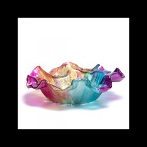 Wavy round bowl