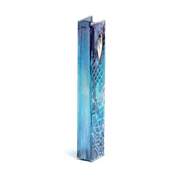 Metallic Blue Mezuzah