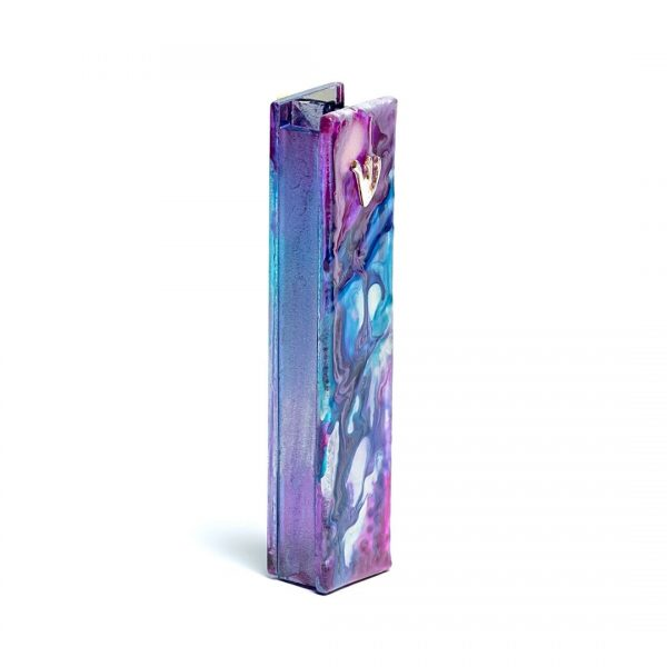 Metallic Purple Mezuzah