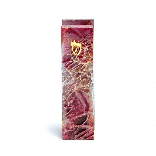 Metallic Crimson Mezuzah