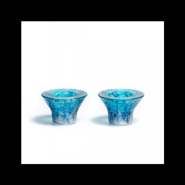Galilee glass candlesticks