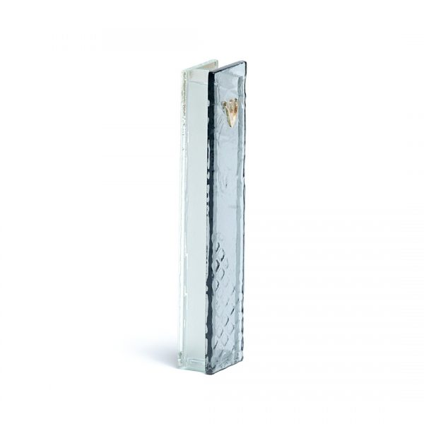 Classic glass mezuzah Grey
