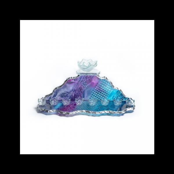 Peak glass Menorah