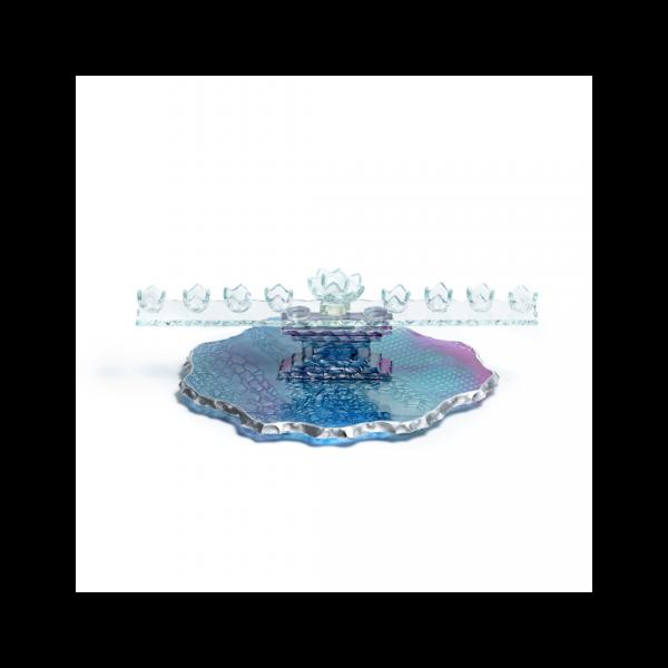 Temple glass Menorah