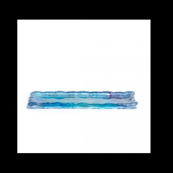 Rectangular glass tray