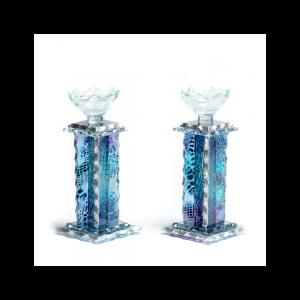 Pyramid glass Candlestics
