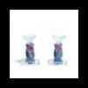 Spiral glass candlesticks