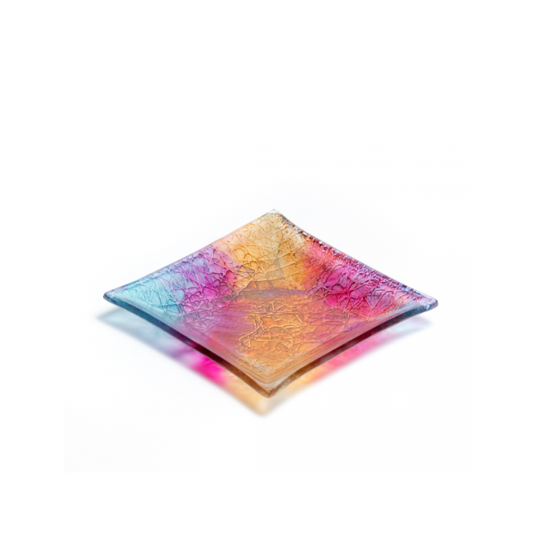 Square glass dish