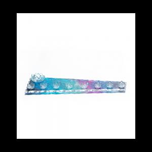 Trapeze glass Menorah